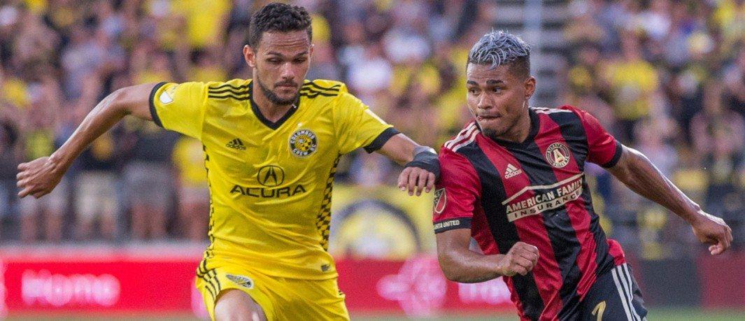 Artur - Columbus Crew SC - Josef Martinez - Atlanta United - close-up