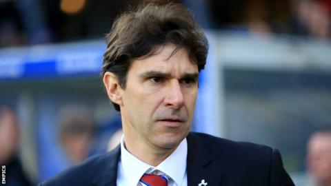 Middlesbrough boss Aitor Karanka watches his side against Bristol City in the Championship