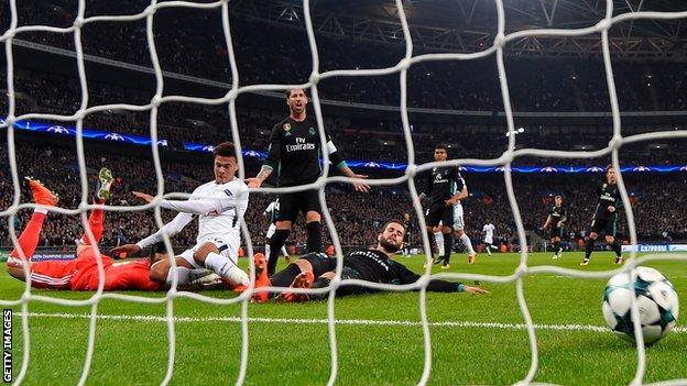 Dele Alli scores against Real Madrid