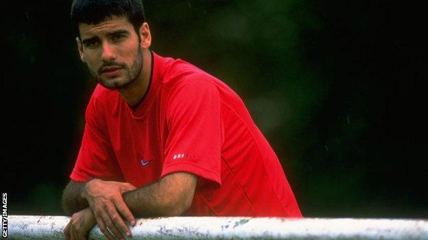 Pep Guardiola in 1997