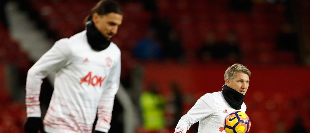 Zlatan Ibrahimovic, Bastian Schweinsteiger - with Manchester United