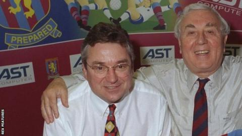 Mark Ansell worked as finance director and deputy chief executive for six years under chairman Doug Ellis (right)