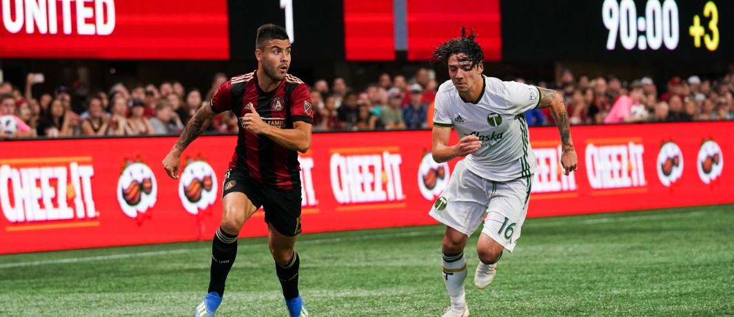 Tito Villalba and Zarek Valentin - Atlanta United Portland Timbers