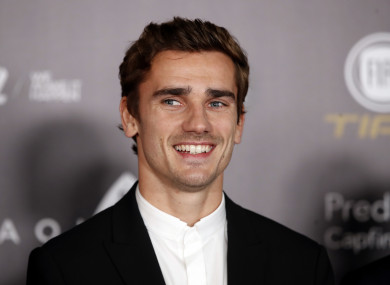 Antoine Griezmann at the 2018 Ballon d'Or ceremony.