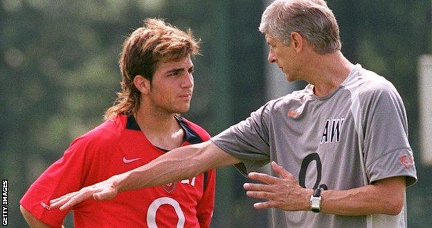 Arsene Wenger made Fabregas the youngest player in Arsenal's history when he handed him his debut, aged 16 years and 177 days, in a League Cup tie against Rotherham on 28 October 2003. He won the 2005 FA Cup with the Gunners and played in their 2006 Champions League final defeat to Barcelona