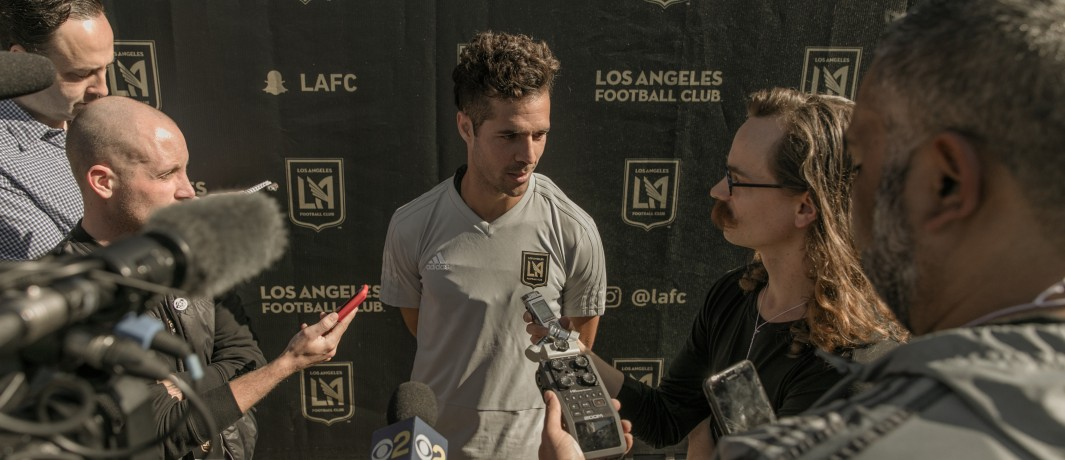 Benny Feilhaber - LAFC - speaking to media at first training session